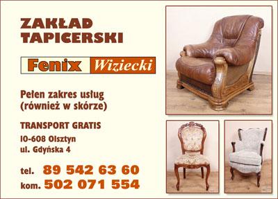 reklama zakładu tapicerskiego